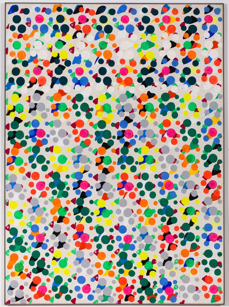 Konrad Lueg, Untitled, 1966, Casein tempera on canvas, 78 3/4 x 59 inches