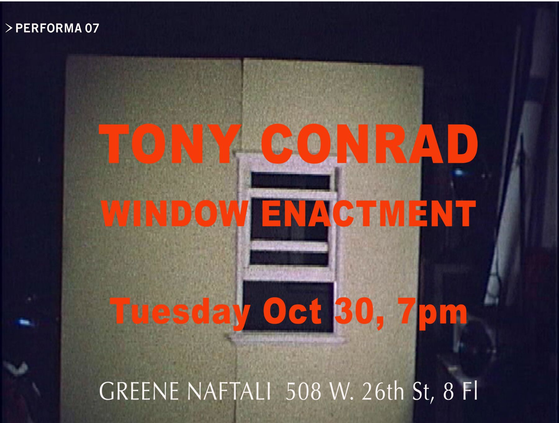 Tony Conrad  Window Enactment