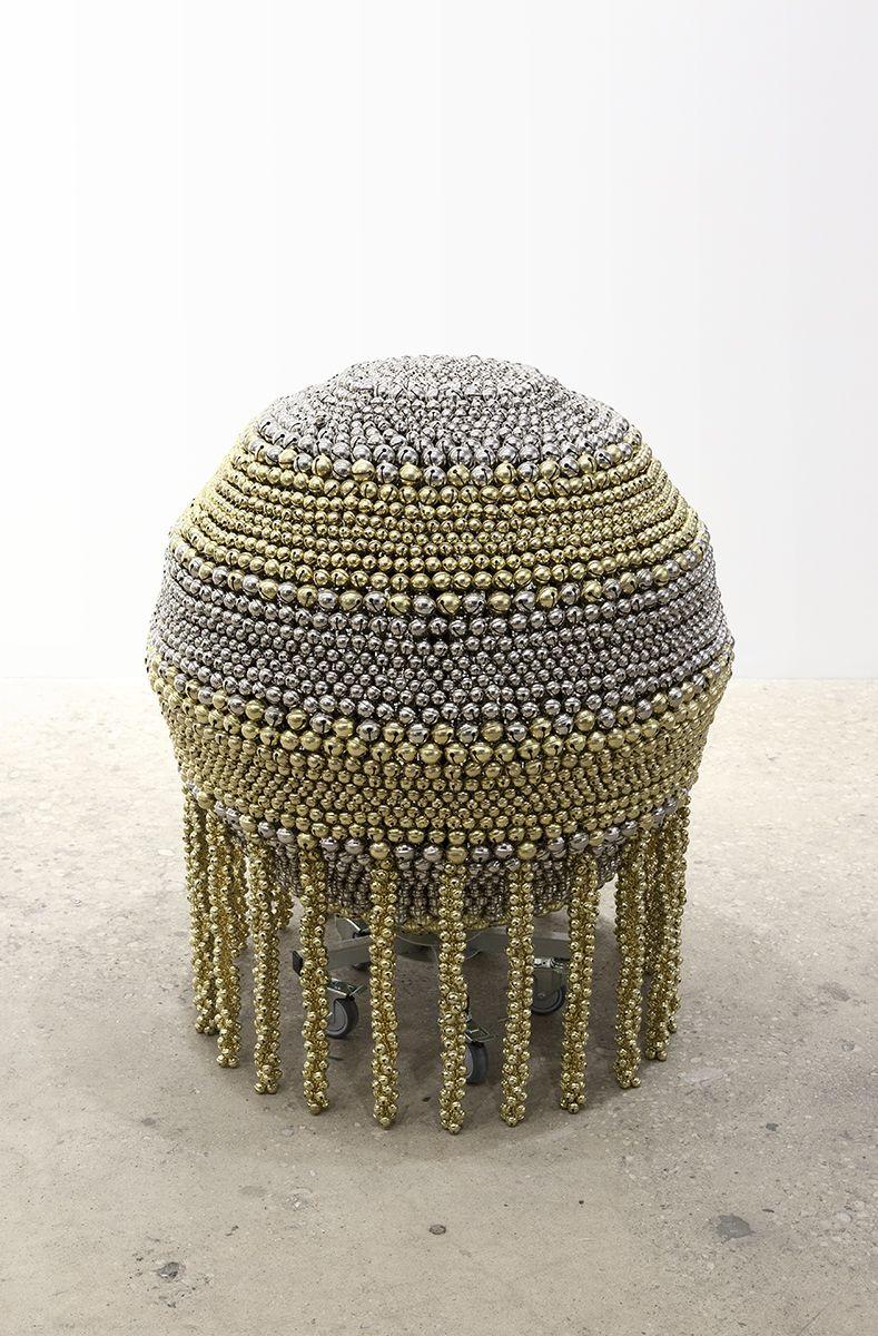 Haegue Yang, Sonic Sphere – Horizontally-striped Brass and Nickel, 2015