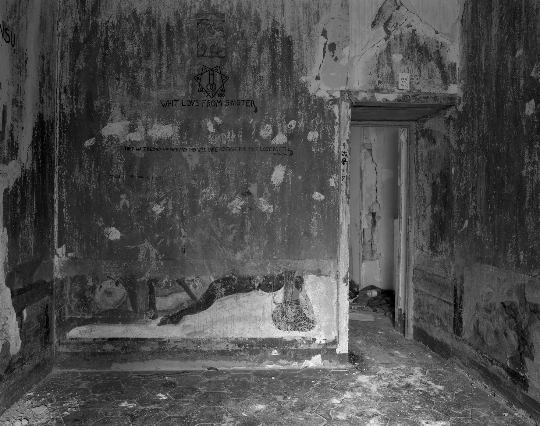 Room of Nightmares #3, 2005,  gelatin silver print,  28 ¾ x 33 ½ inches
