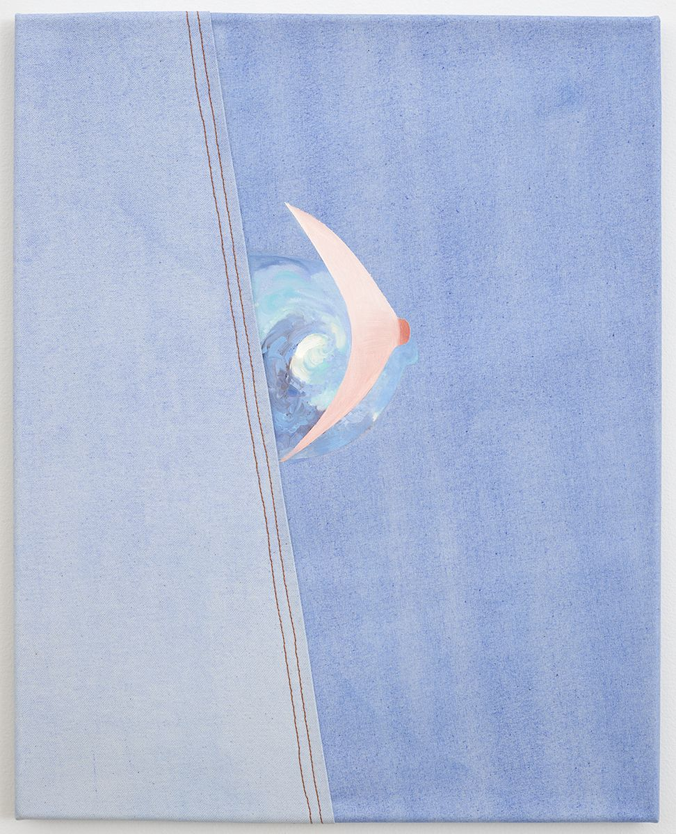 Monika Baer Untitled, 2008 Watercolor, acrylic, oil on canvas, seam 21 1/4 x 17 3/8 inches (54 x 44 cm)