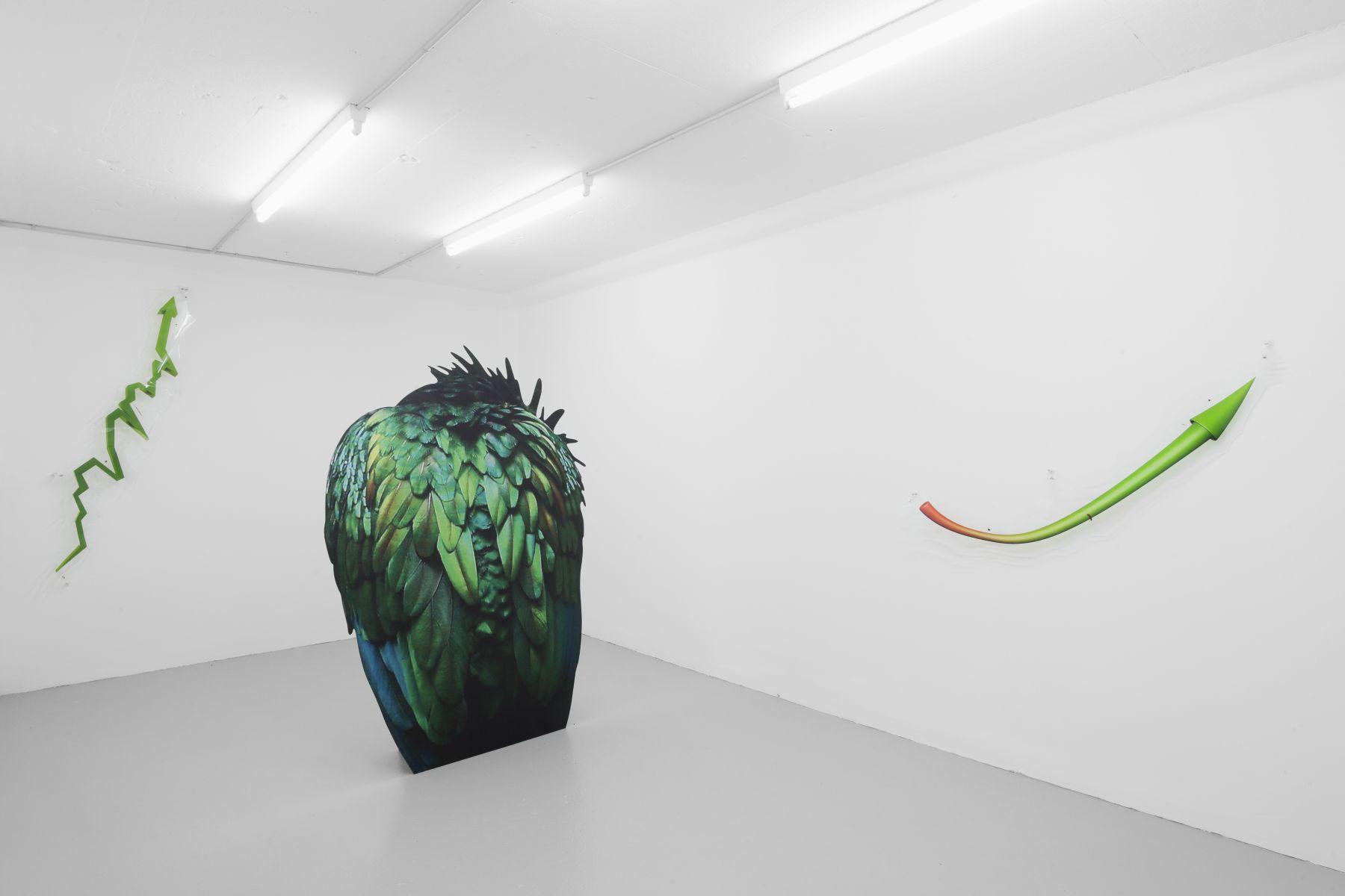 Katja Novitskova, Installation view,Green Growth, Salts, Basel, 2014