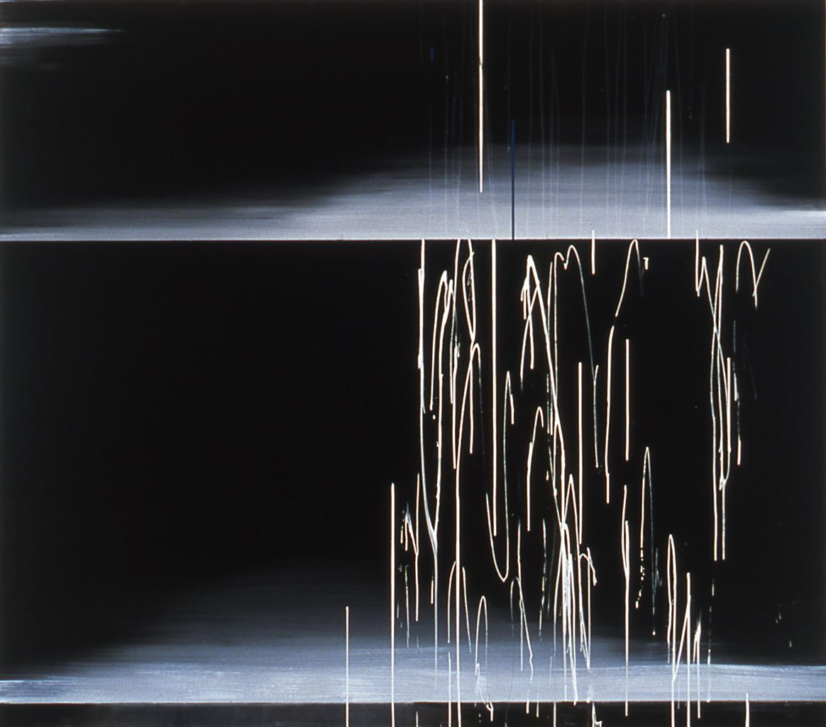 Jacqueline Humphries, Untitled, 2000, Oil on linen, 90 x 102 inches