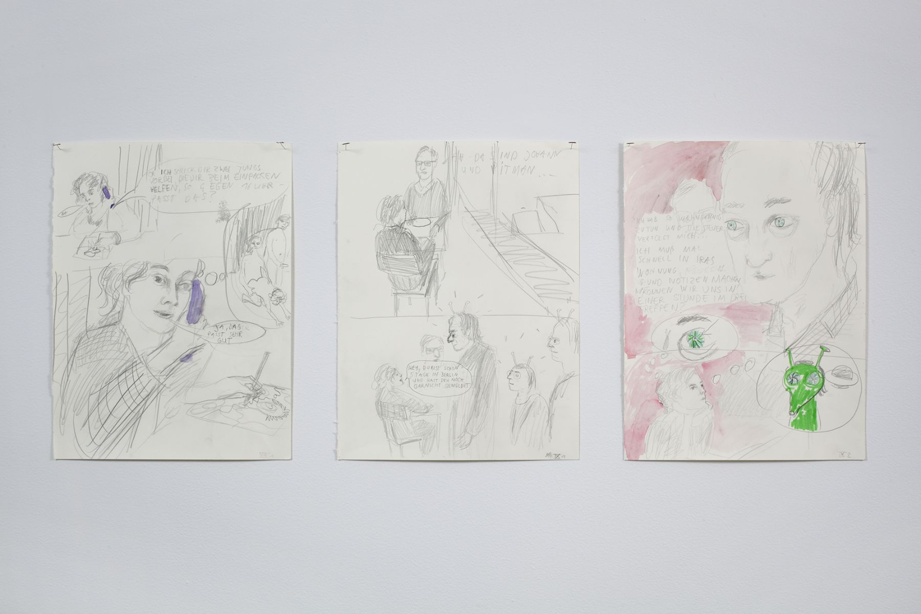 November, 2011 (detail), Pen, pencil, and watercolor on 64 sheets of paper, Dimensions variable