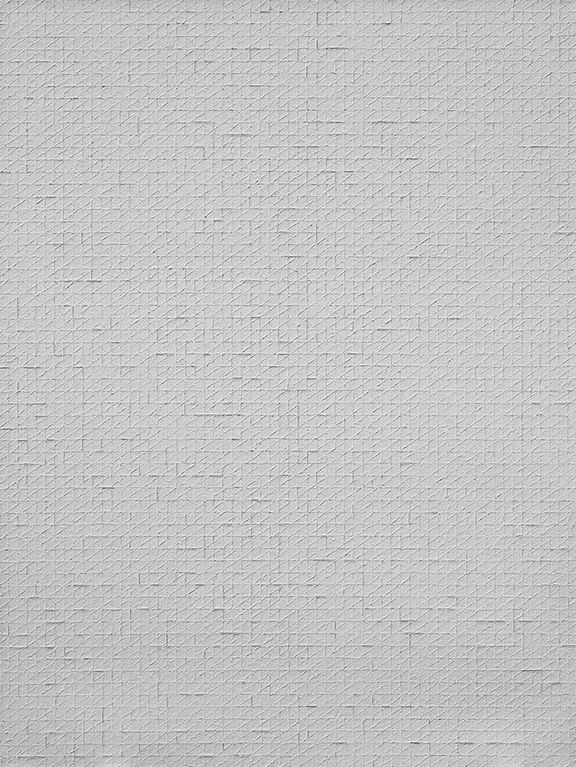 Chung Sang-Hwa Untitled 2014-2-12, 2014 Acrylic and kaolin on canvas 102 1/8 x 76 3/8 inches (259.1 x 193.9 cm)