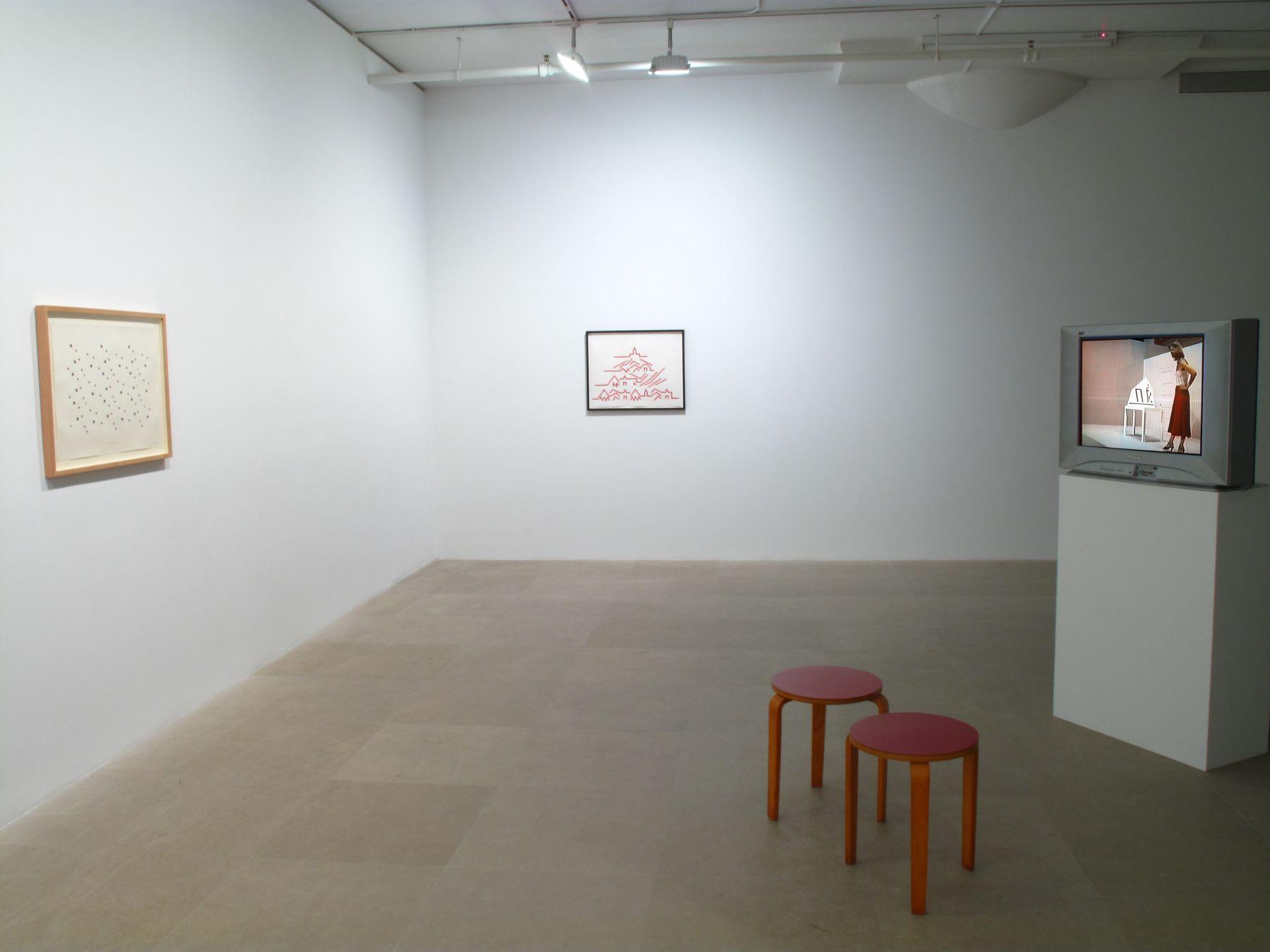 Installation view, Greene Naftali, New York, 2009