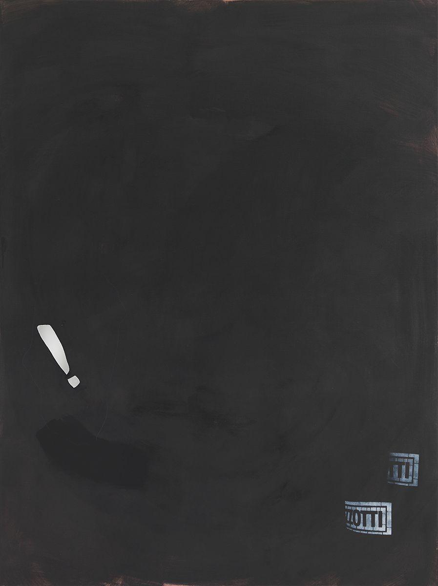 Monika Baer on hold, 2015 Acrylic, mirror on canvas 70 3/4 x 53 1/4 inches (180 x 135 cm)