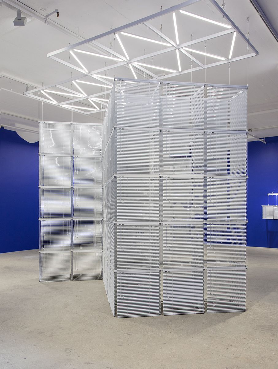 Haegue Yang,Sol LeWitt Upside Down –Cube Structure Based on Five Modules, Expanded 184 Times#73-A, 2016
