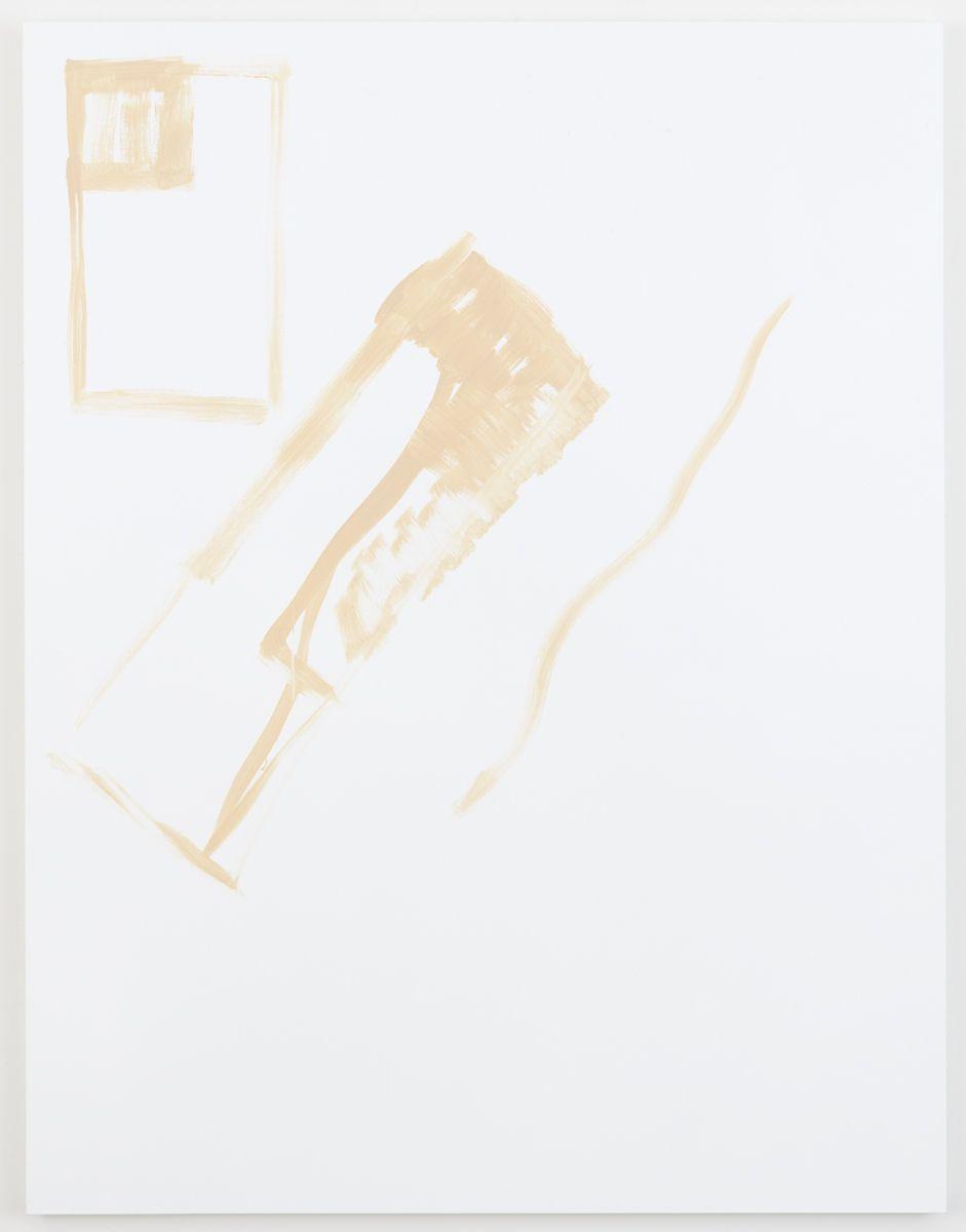 Michael Krebber Herbes de Provence, La briquet, 2018 Acrylic on canvas 70 x 54 inches (177.8 x 137.2 cm)