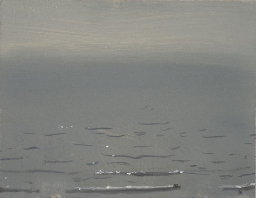 10 A.M., oil on board, 9 x 12 inches