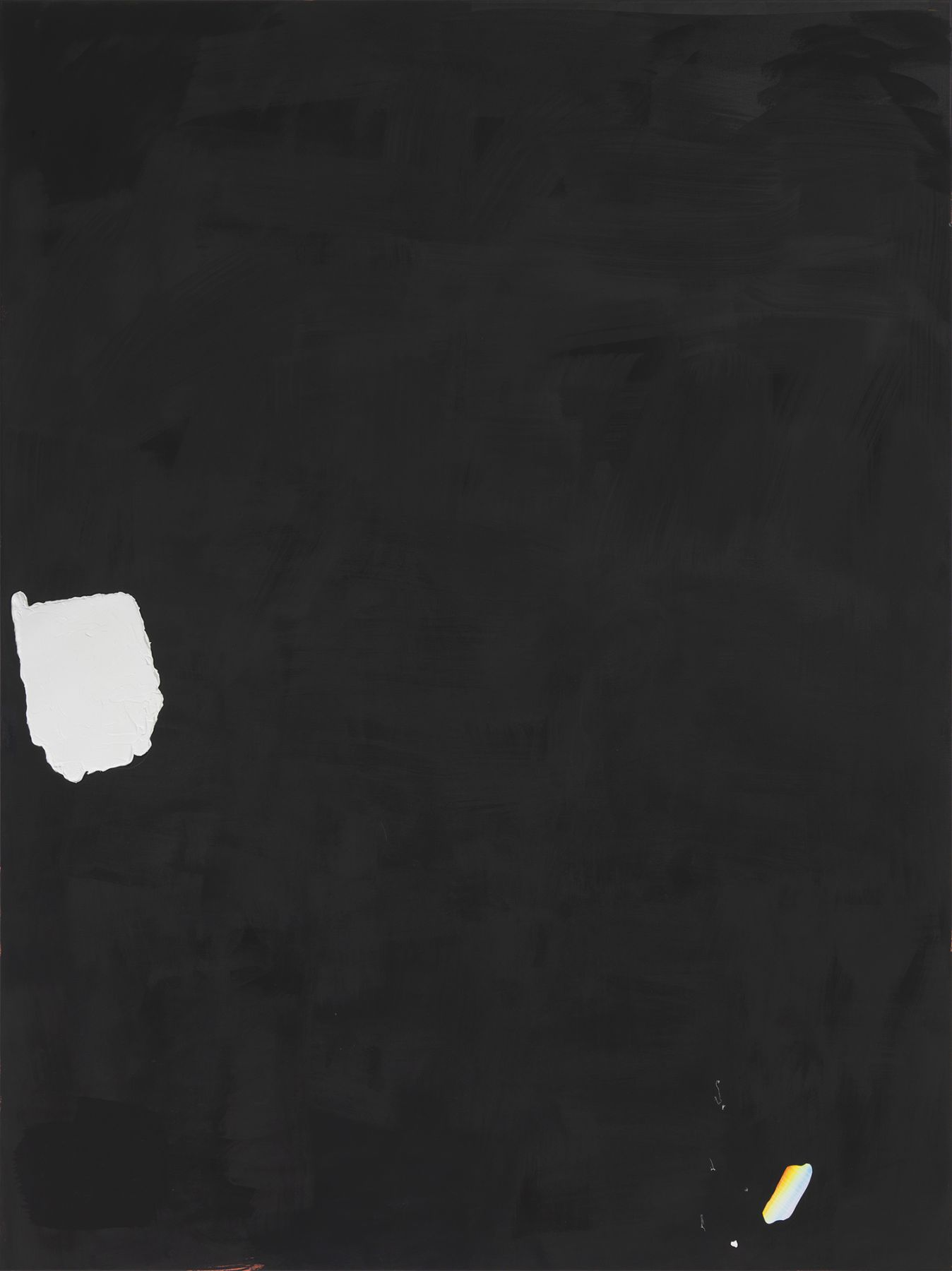Monika Baer on hold, 2015 Acrylic, oil on canvas 70 3/4 x 53 1/4 inches (180 x 135 cm)