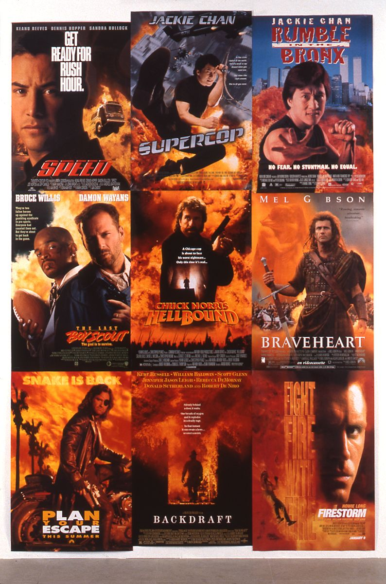 Piotr Uklański, Backdraft, 1996, nine movie posters, 12 x 5 feet