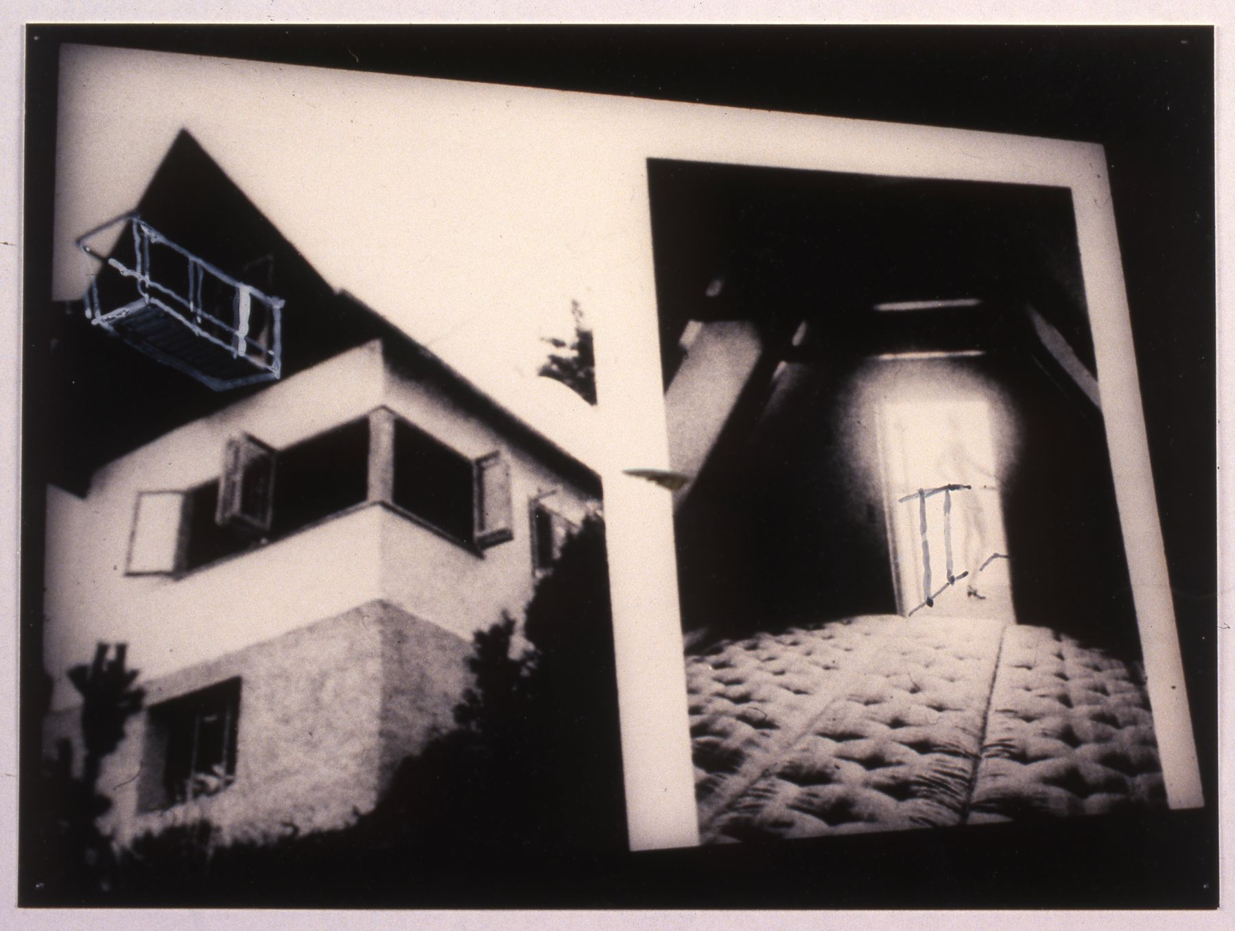 Josef Strau Nazis for Suburbia , 1999 original photograph/mixed media in glass frame  11.75 x 19.75 inches 29.8 x 50.2 cm
