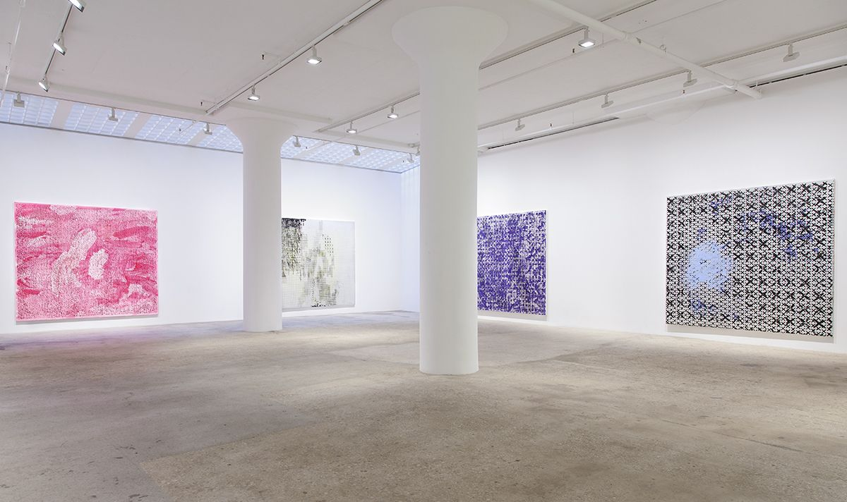 Jacqueline Humphries, Installation view, Greene Naftali, New York, 2015