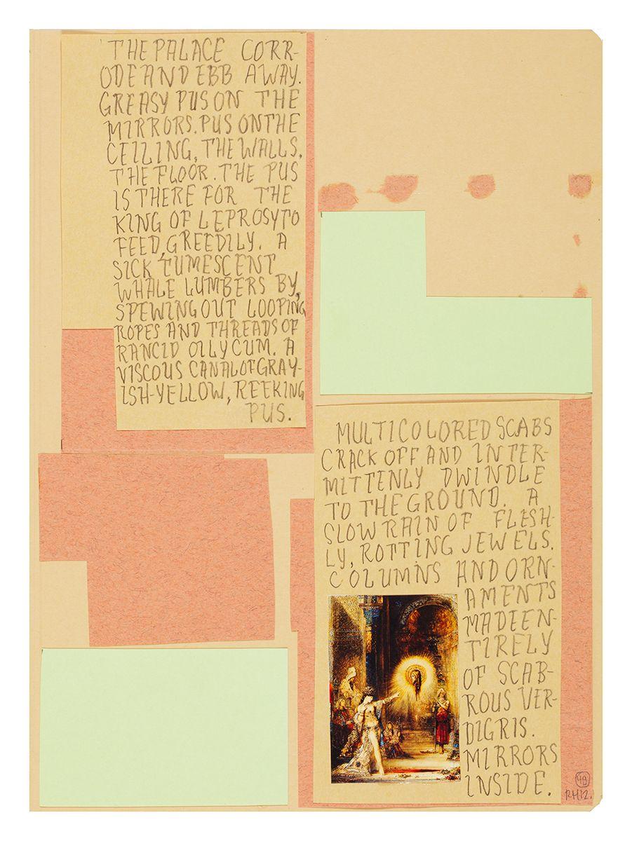 Ankoku 49 (Apparition), 2012, Collage, 18 x 14 3/4 x 1 inches (45.7 x 37.5 x 2.5 cm)