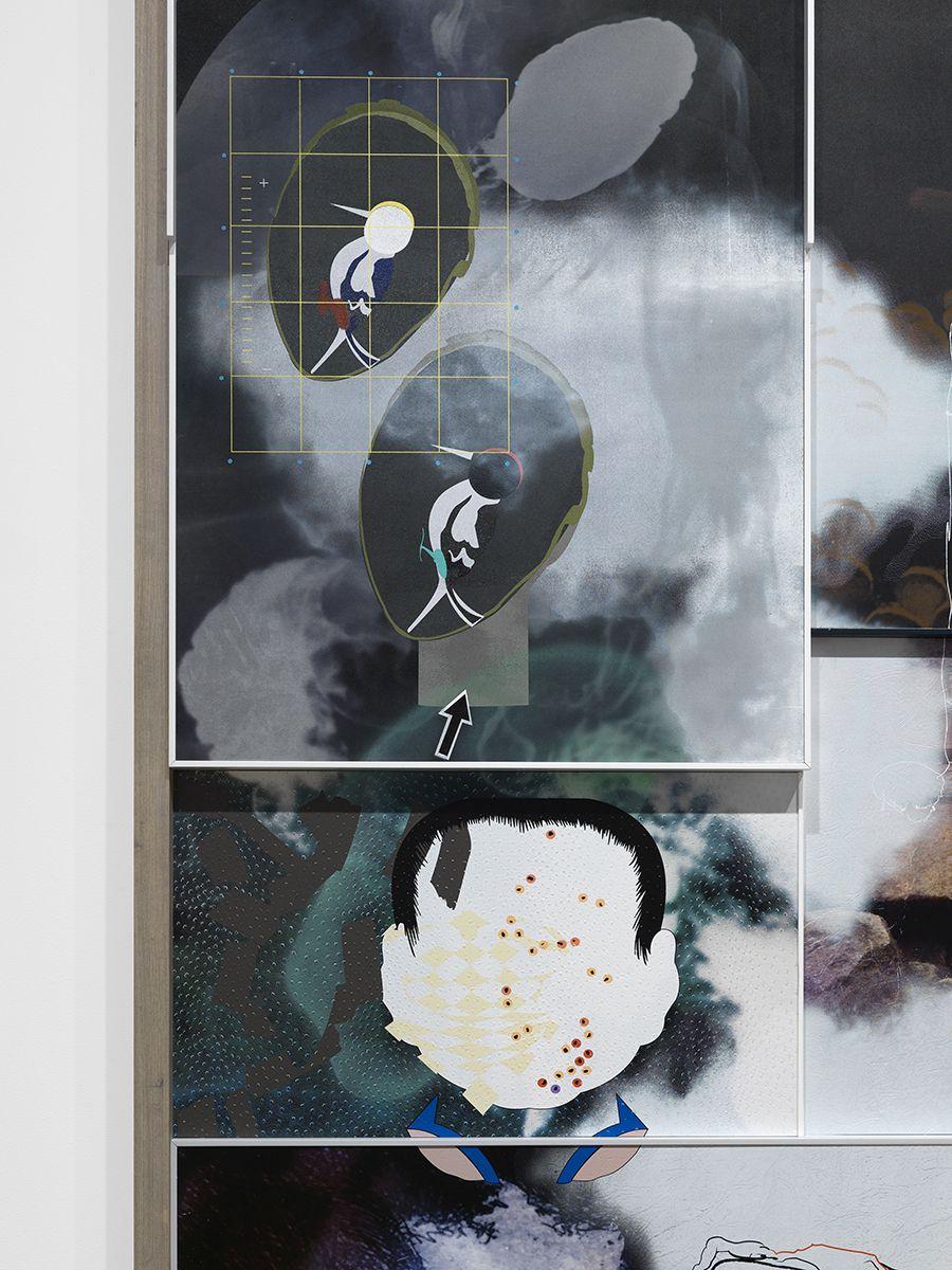 Helen Marten,Puddlefoot, digging, 2015 (detail)
