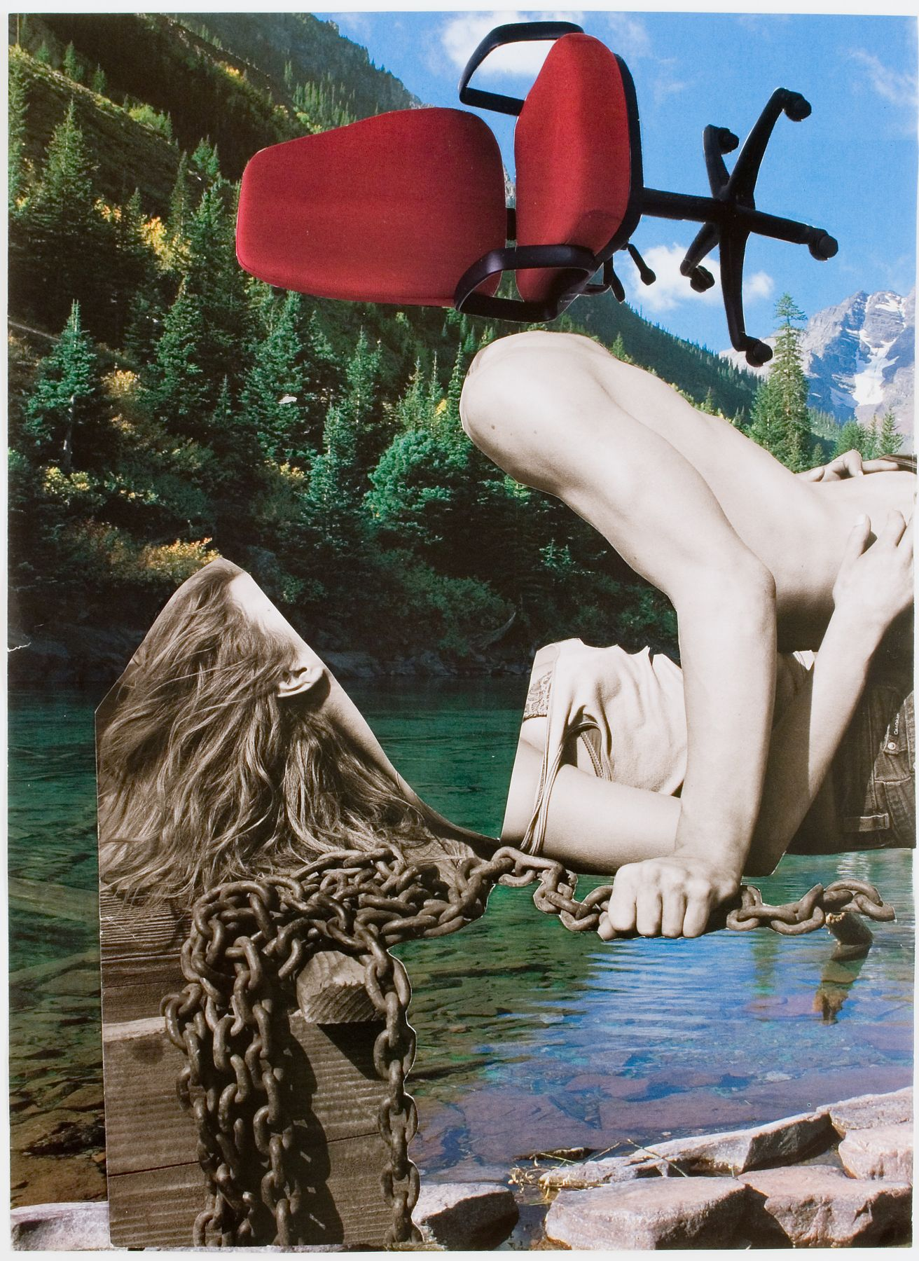 Jim Drain, Untitled, 2007, mixed media on paper, 9 1/2 x 13 7/8 inches