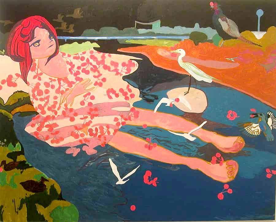 Makiko Kudo, I Don't Know, 2004, oil on canvas, 71.65 x 89.37 inches