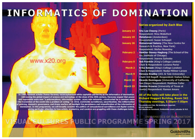 Informatics of Domination - Visual Cultures Public Programme Spring 2017