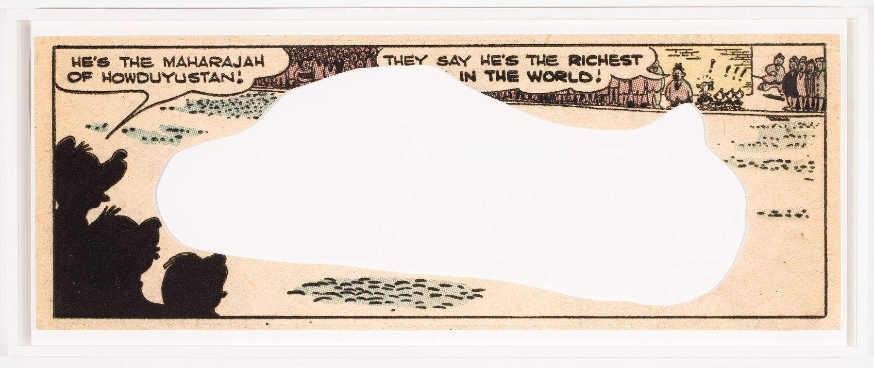 Allen Ruppersberg, Little Problem 1, 2010, archival inkjet print on paper, 15 x 42 inches