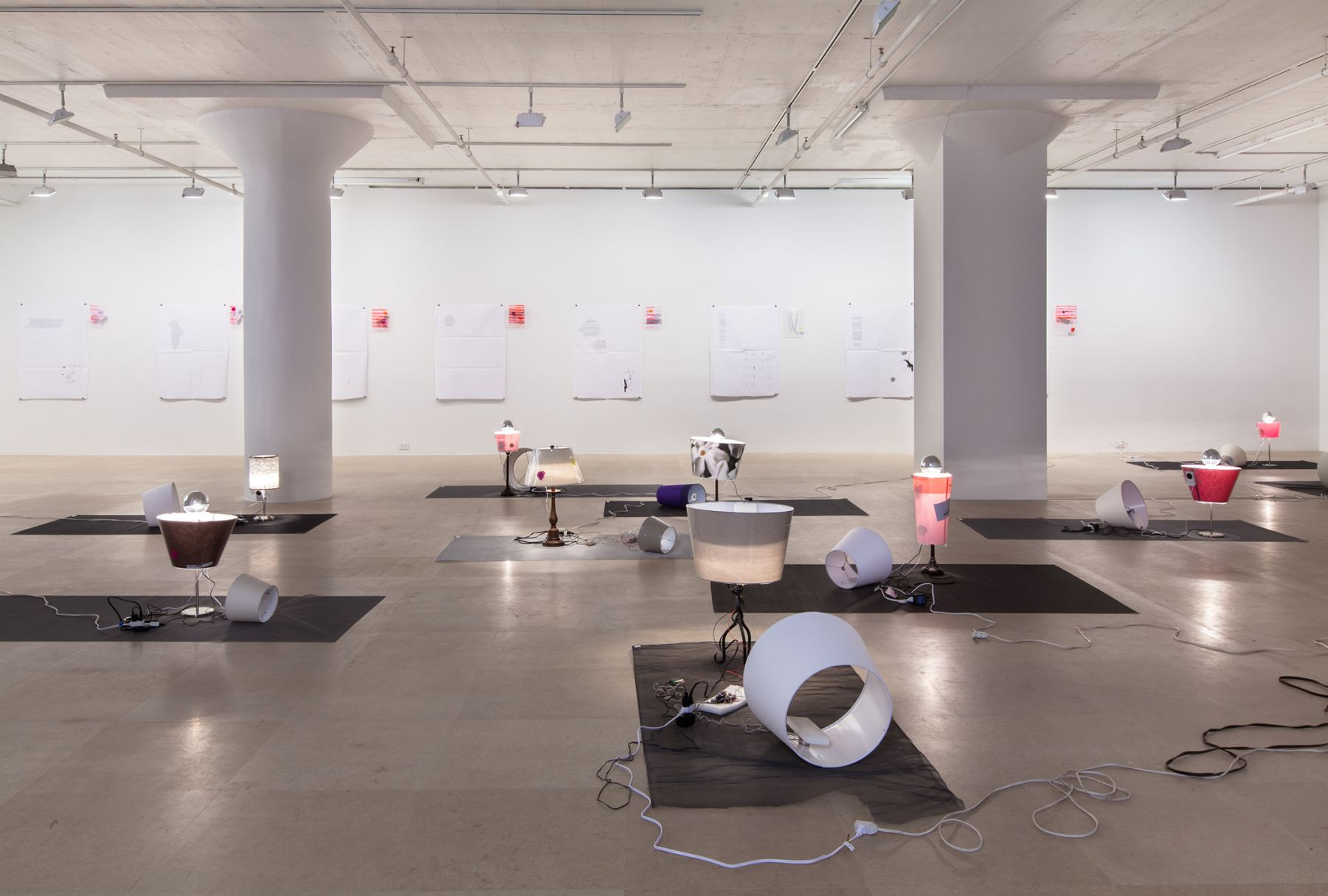 Josef Strau, Installation view, Exercises ab initio..., Greene Naftali, New York, 2012