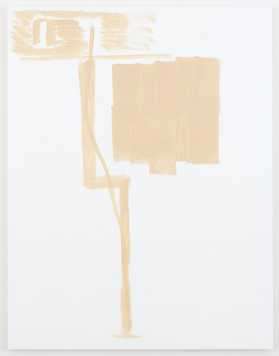 Michael Krebber Herbes de Provence MK.6066, 2018 Acrylic on canvas 70 x 54 inches (177.8 x 137.2 cm) (MK.6066)