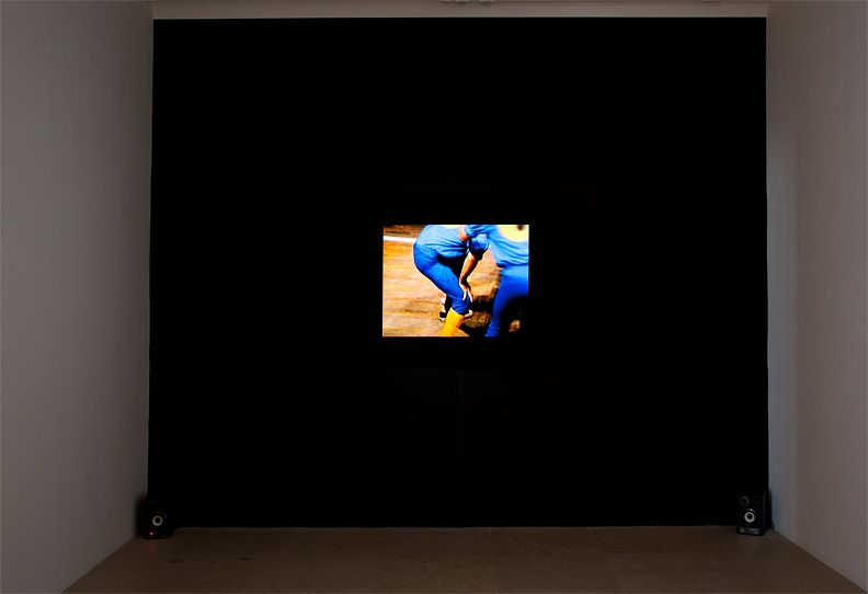Ericka Beckman, You the better, 1983, 16mm color/sound, 30 minutes, Installation view, Greene Naftali, New York, 2011