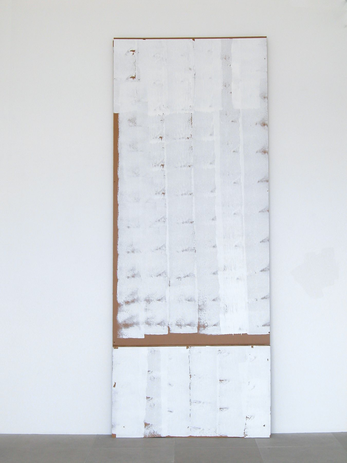 Where Go, 2008, Cardboard, paint, 123 x 48 x 5 inches