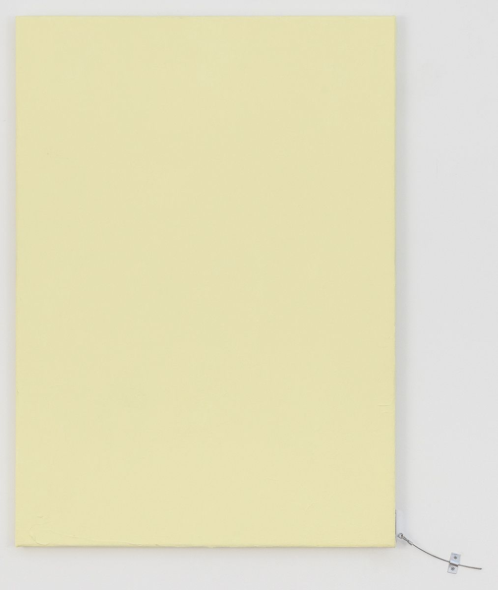 Monika Baer Untitled, 2018 Acrylic, quartz on canvas, aluminum 34 2/3 x 24 3/4 inches (88 x 63 cm)