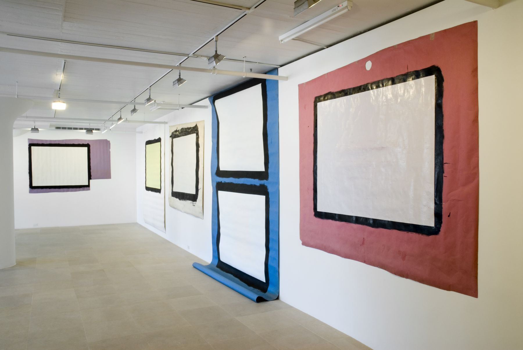 Tony Conrad, Installation view, Greene Naftali, New York, 2007