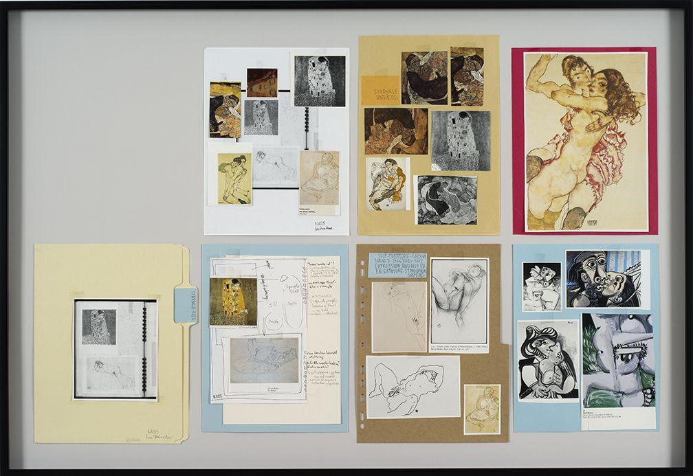 Richard Hawkins Ankoku 22 (Resource file: Strangle-kiss), 2012 Collage 27 3/4 x 40 3/8 x 1 5/8 inches 70.5 x 102.6 x 4.1 cm