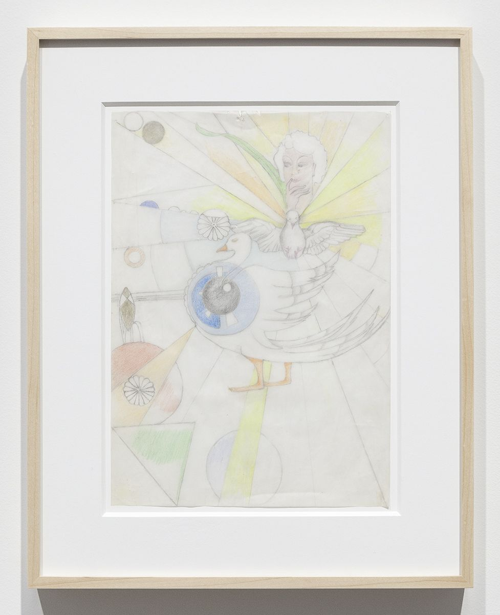 Katharina Wulff Untitled, 2016 Pencil, colored pencil on transparent paper Paper: 11 5/8 x 8 1/4 inches (29.5 x 21 cm) Frame: 16 1/2 x 13 x 1 3/8 inches (41.9 x 33 x 3.5 cm)