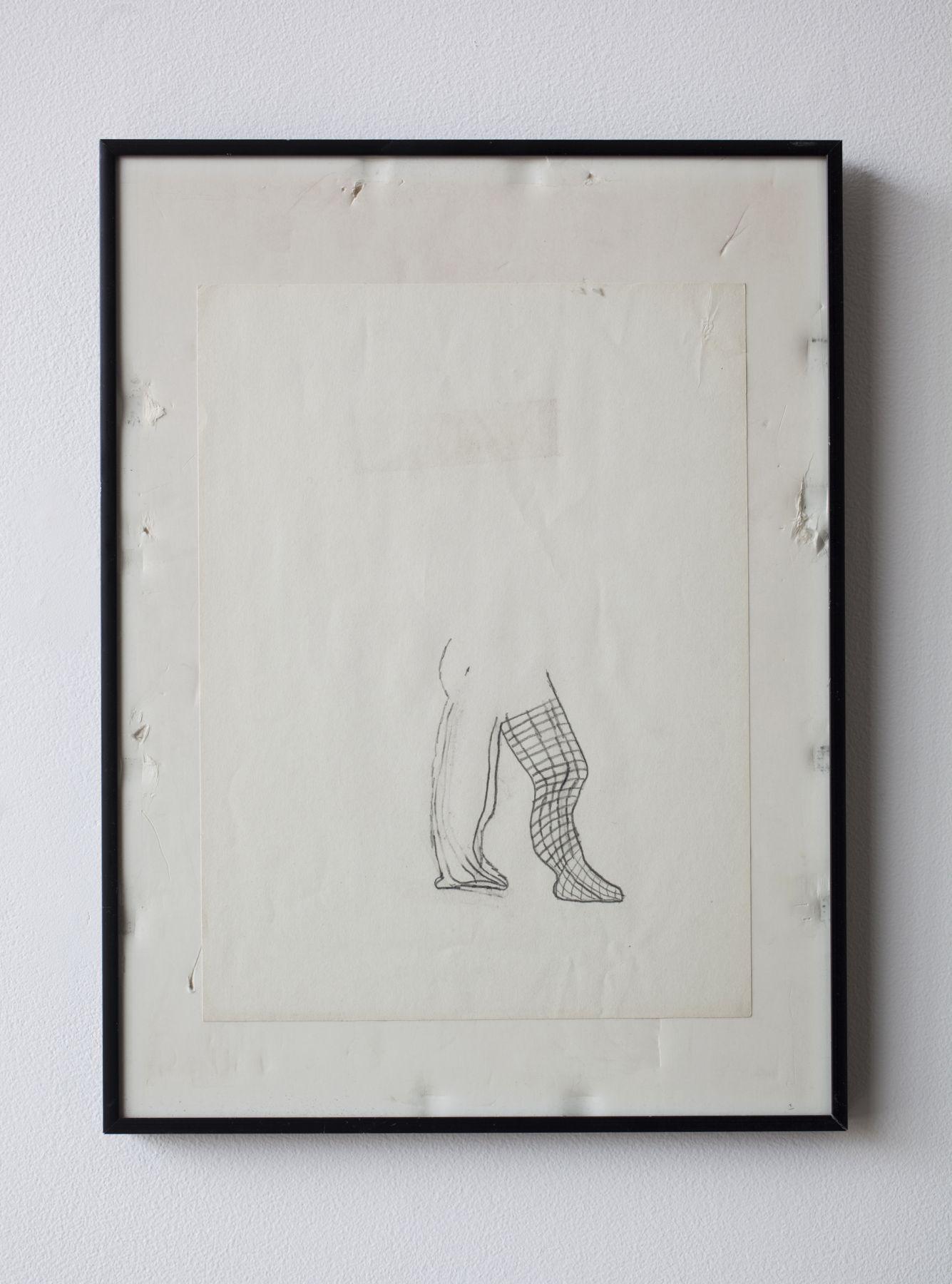 Gedi Sibony, Untitled, 2010, drawing, frame, 16 1/4 x 12 1/4 x 7/8 inches