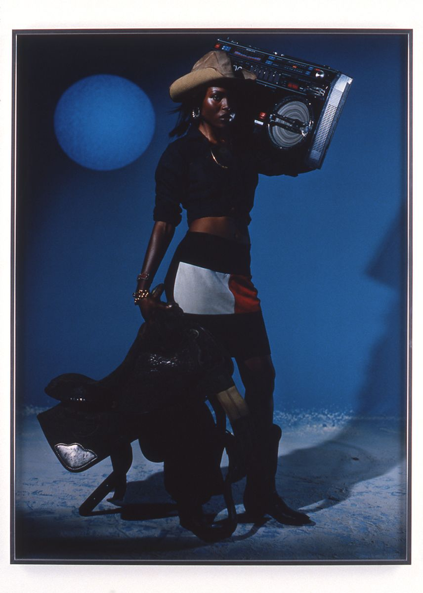 "Chris Moore, Brandy Blunted (from the ""Posse"" series), 1997, c-print, 40 x 30 inches framed, time based edition"