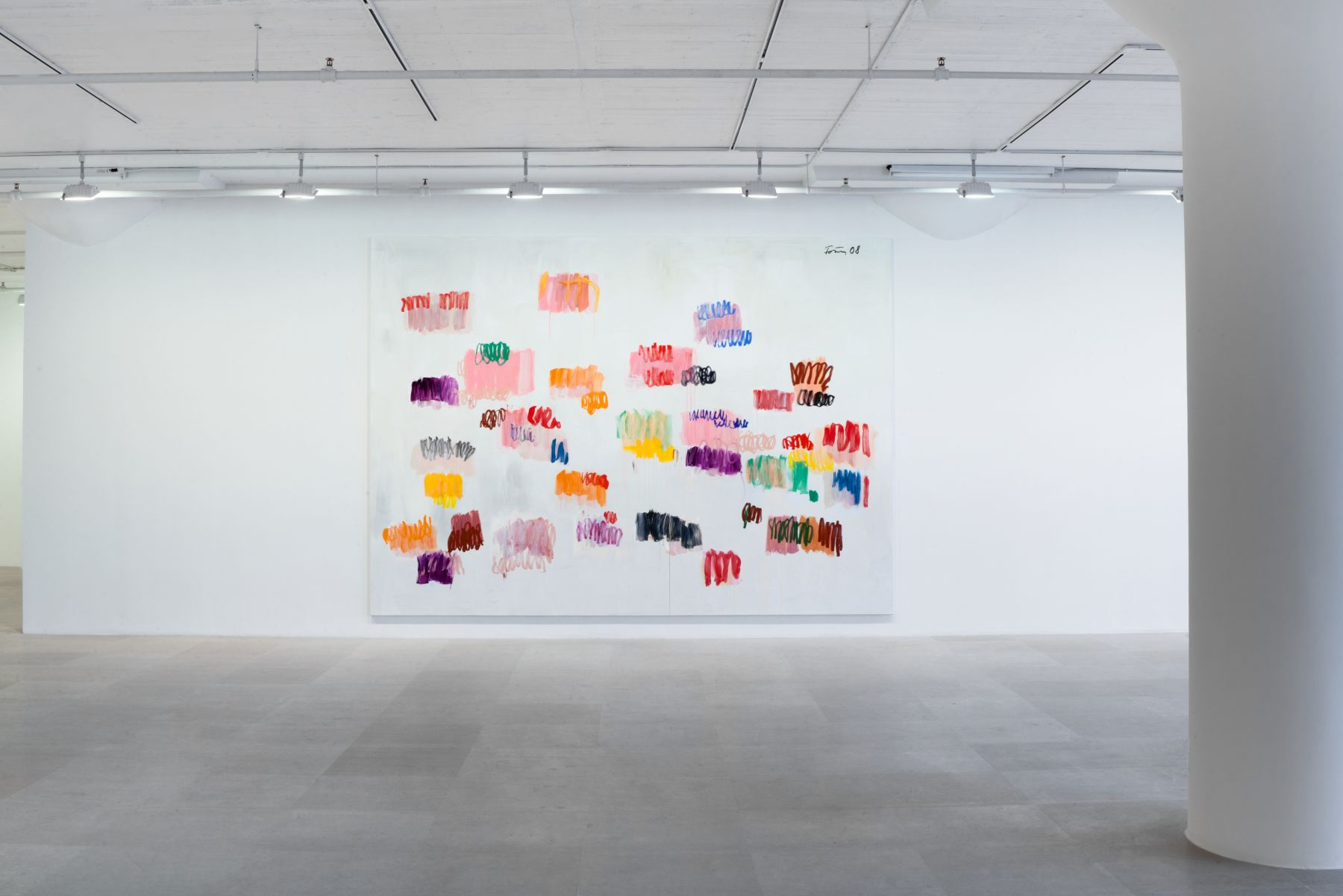 Günther Förg, Untitled, 2007, Acrylic and oil on canvas, 114 1/8 x 157 1/2 inches, Installation view, Greene Naftali, New York, 2012