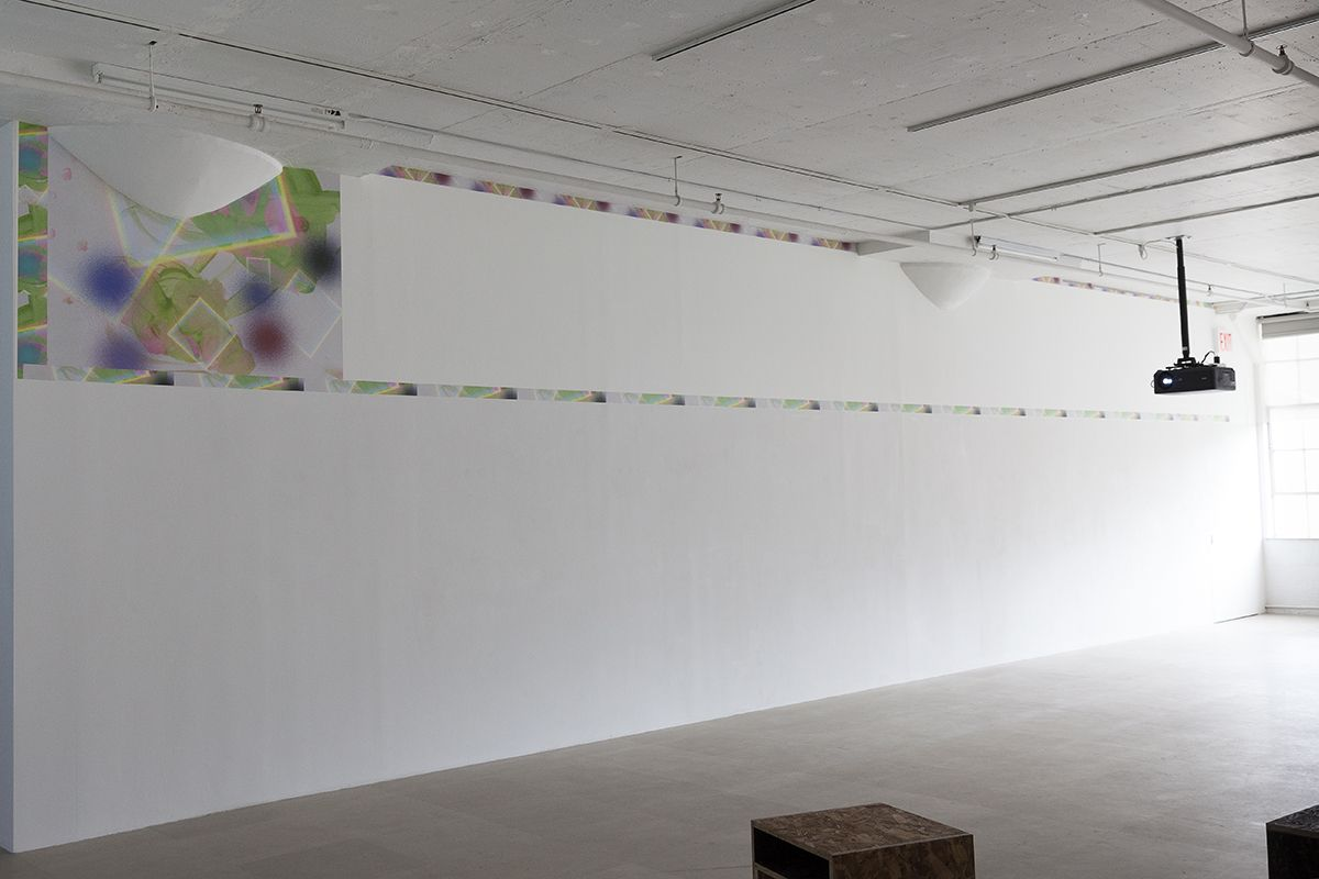 Hilary Lloyd  Painting, 2017  Printed wallpaper  Dimensions variable