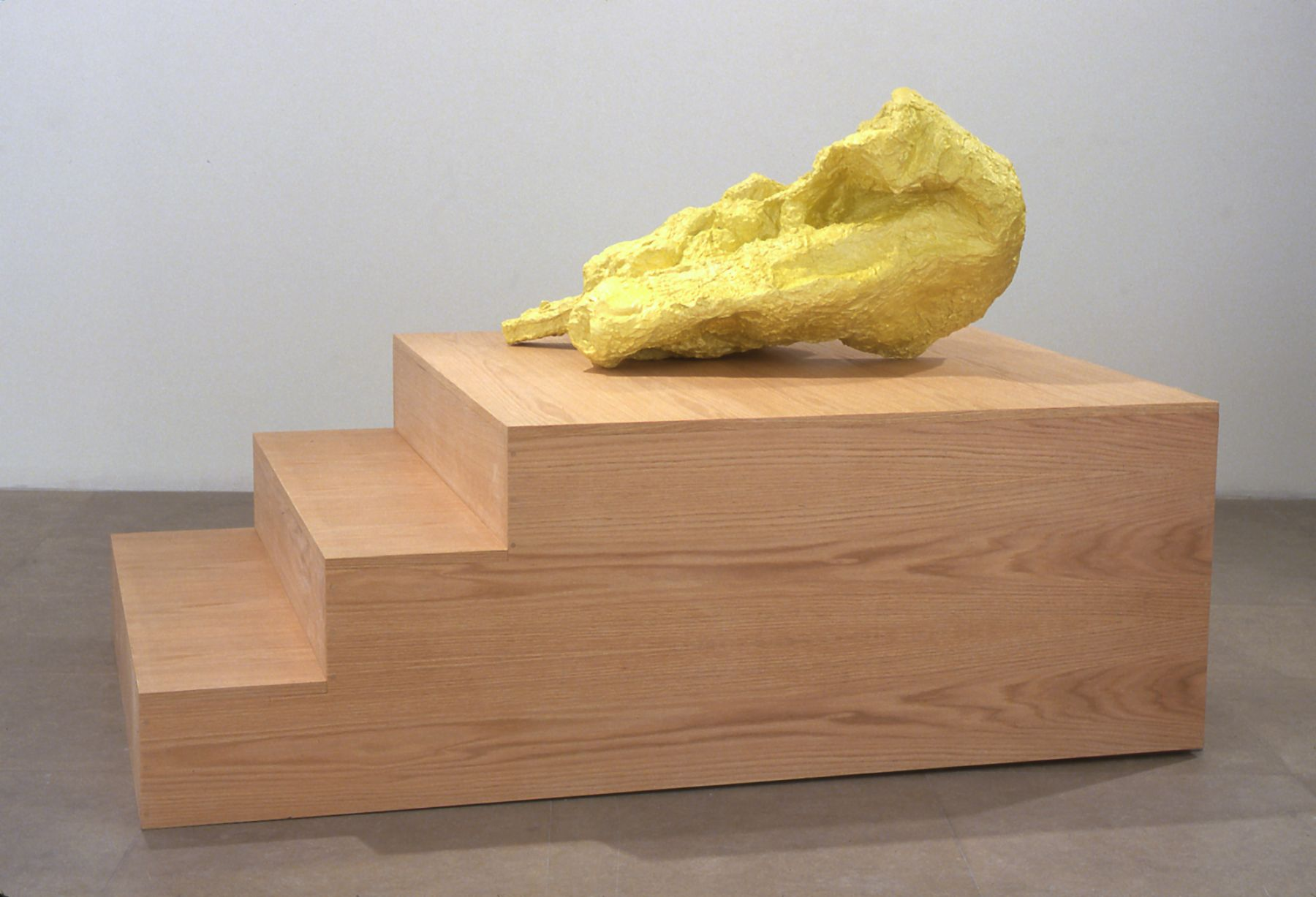 Silent Account (Yellow), 2004,  mixed media sculpture, 47 x 46 x 69 inches