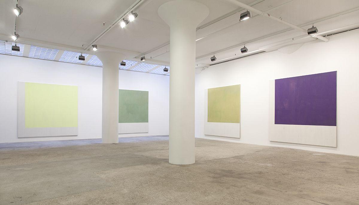 Günther Förg Untitled, 1991 Acrylic on canvas Ten pieces: 114 1/8 x 114 1/8 inches (290 x 290 cm) each