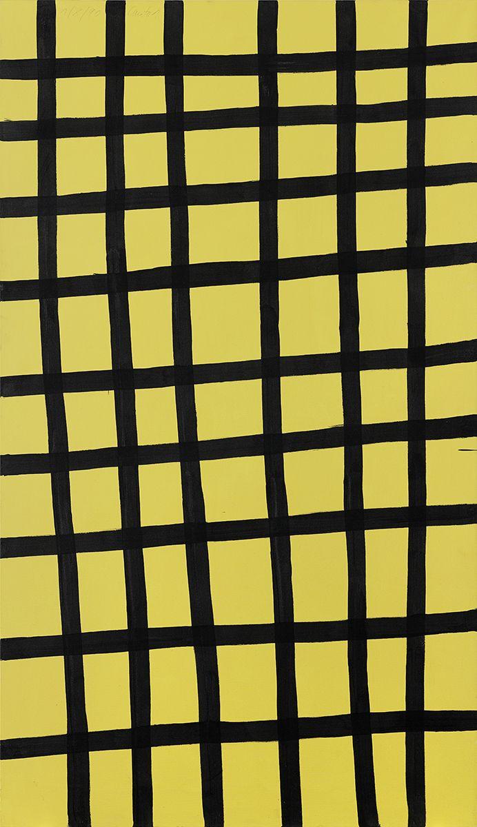 Günther Förg  Canto 1, 1990 Acrylic on canvas  102 3/8 x 59 inches (260 x 150 cm)