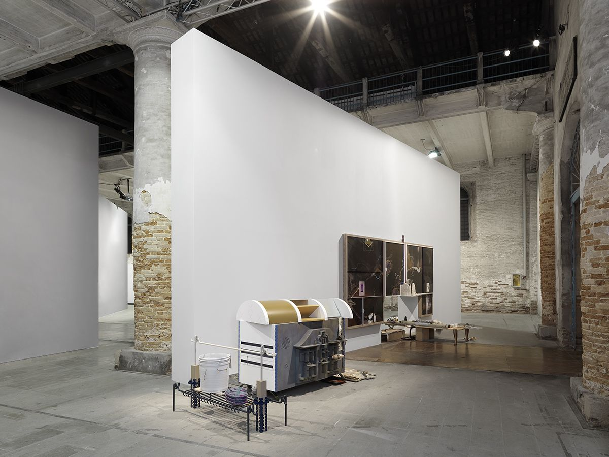 Helen Marten, Installation view, All the World's Futures, 56th International Art Exhibition, Venice Biennale, Venice, 2015