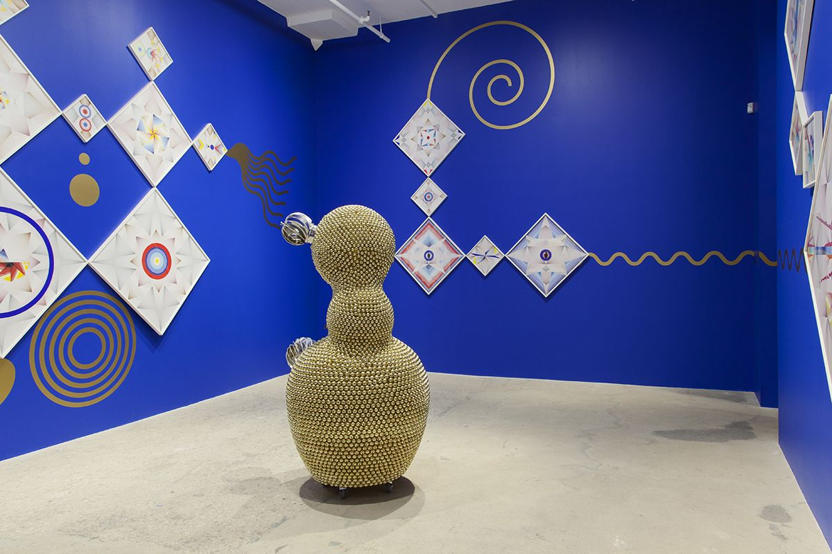 Installation view,Quasi-Pagan Minimal, Greene Naftali, New York, 2016