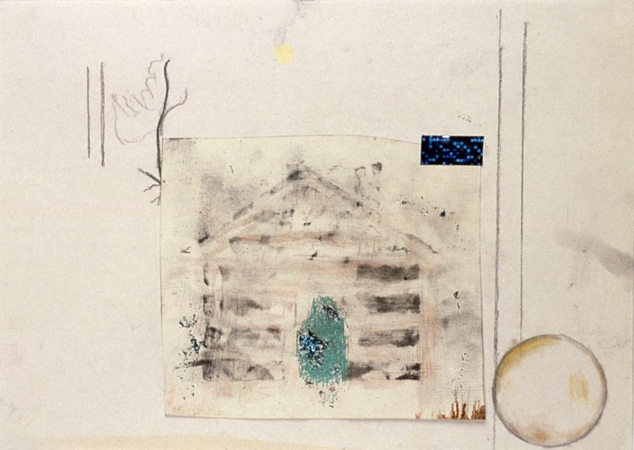 Julie Becker, Untitled, 2002, mixed media on paper, 8 1/2 x 11 inches
