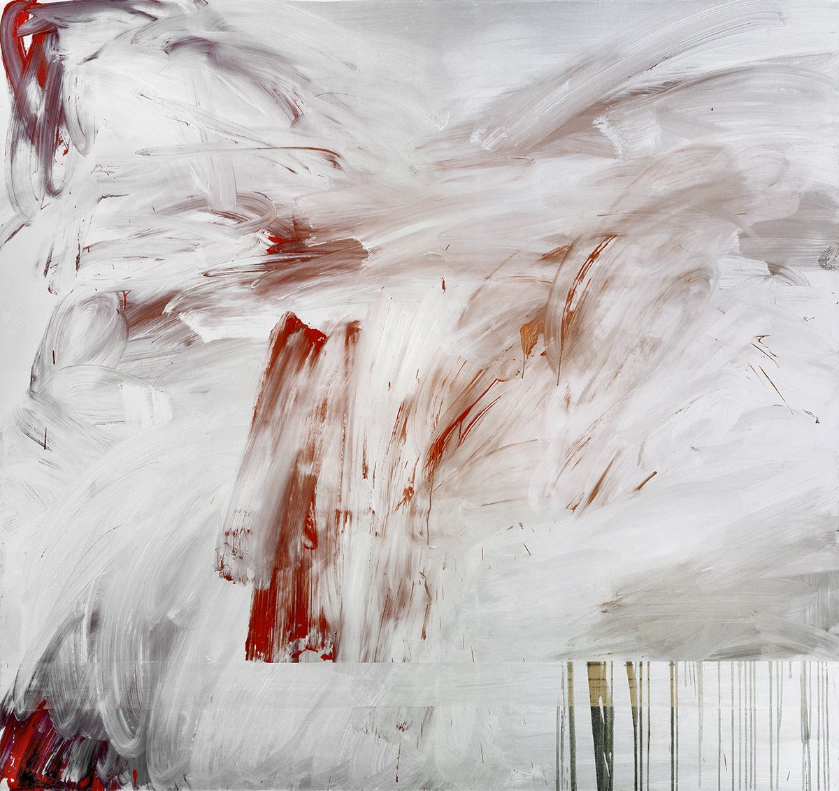 Jacqueline Humphries Judith, 2006 oil on linen 90 x 96 inches 228.6 x 243.8 cm