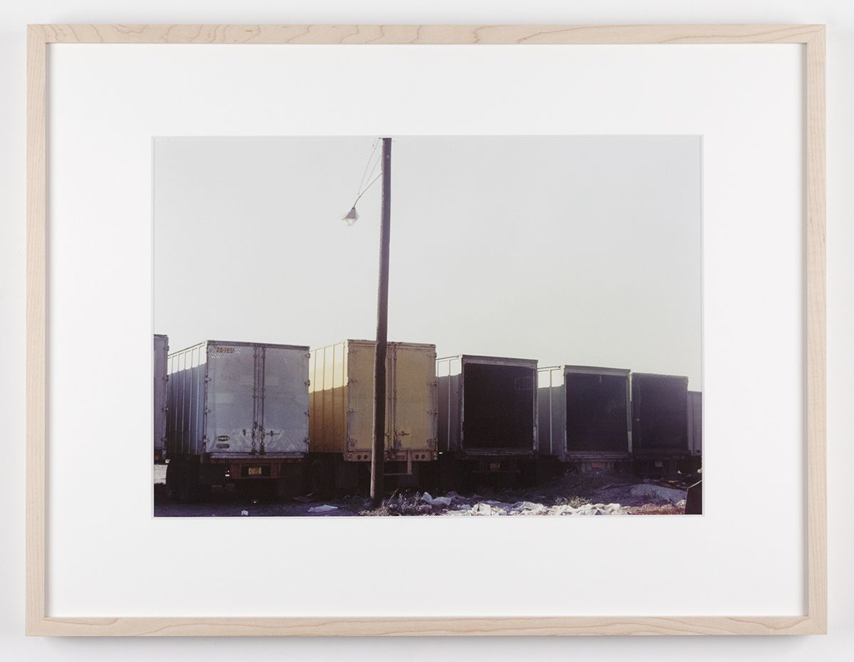 Dan Graham Trucks, Secaucus, New Jersey, 1966 C-print Framed: 17 1/8 x 22 1/4 inches (43.5 x 56.5 cm)