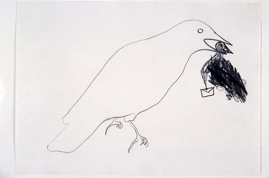 Undated Letter / Invisible Branch, 1999, Drawing, 8.2 x 11.6 inches