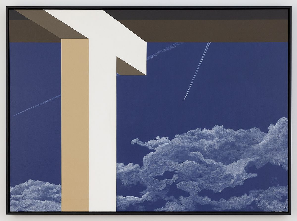 Allan D'Arcangelo  Without Sound Two, 1982  Acrylic on Canvas  48 x 66 inches (121.9 x 167.6 cm)