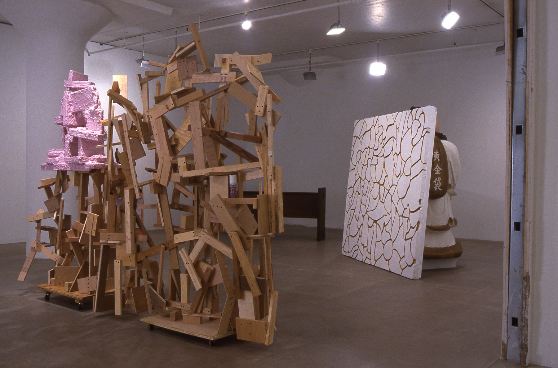 Rachel Harrison, Installation view, Latka/Latkas, Greene Naftali, New York, 2004
