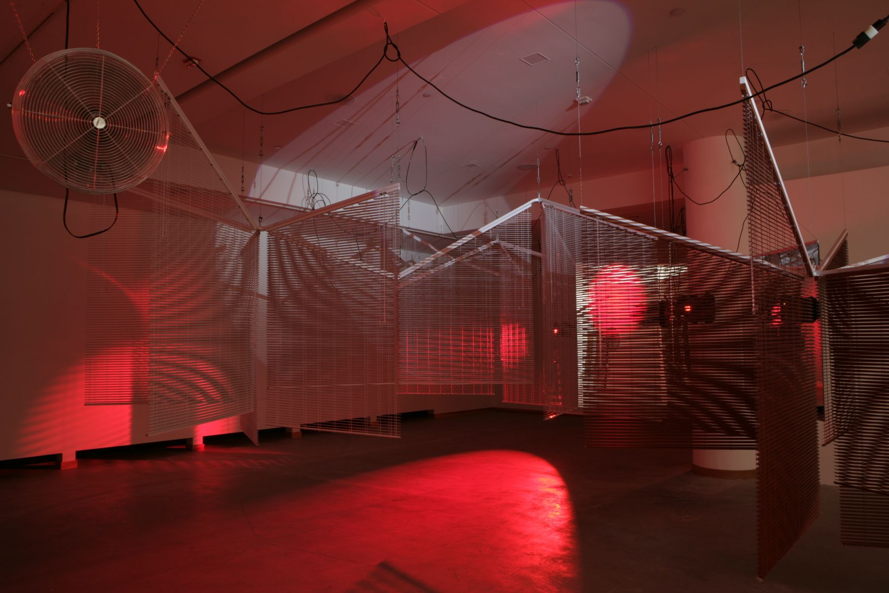 Haegue Yang, Asymmetric Equality, Installation view, REDCAT, Los Angeles, 2008