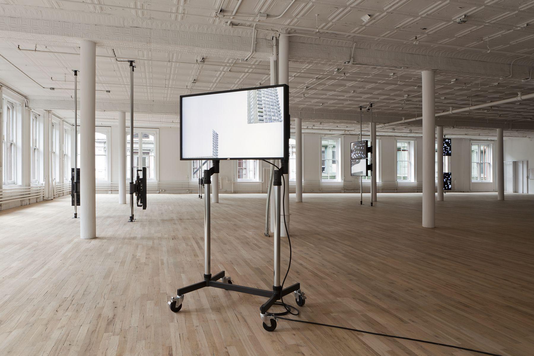 Installation view, Hilary Lloyd, Artists Space, New York, 2011