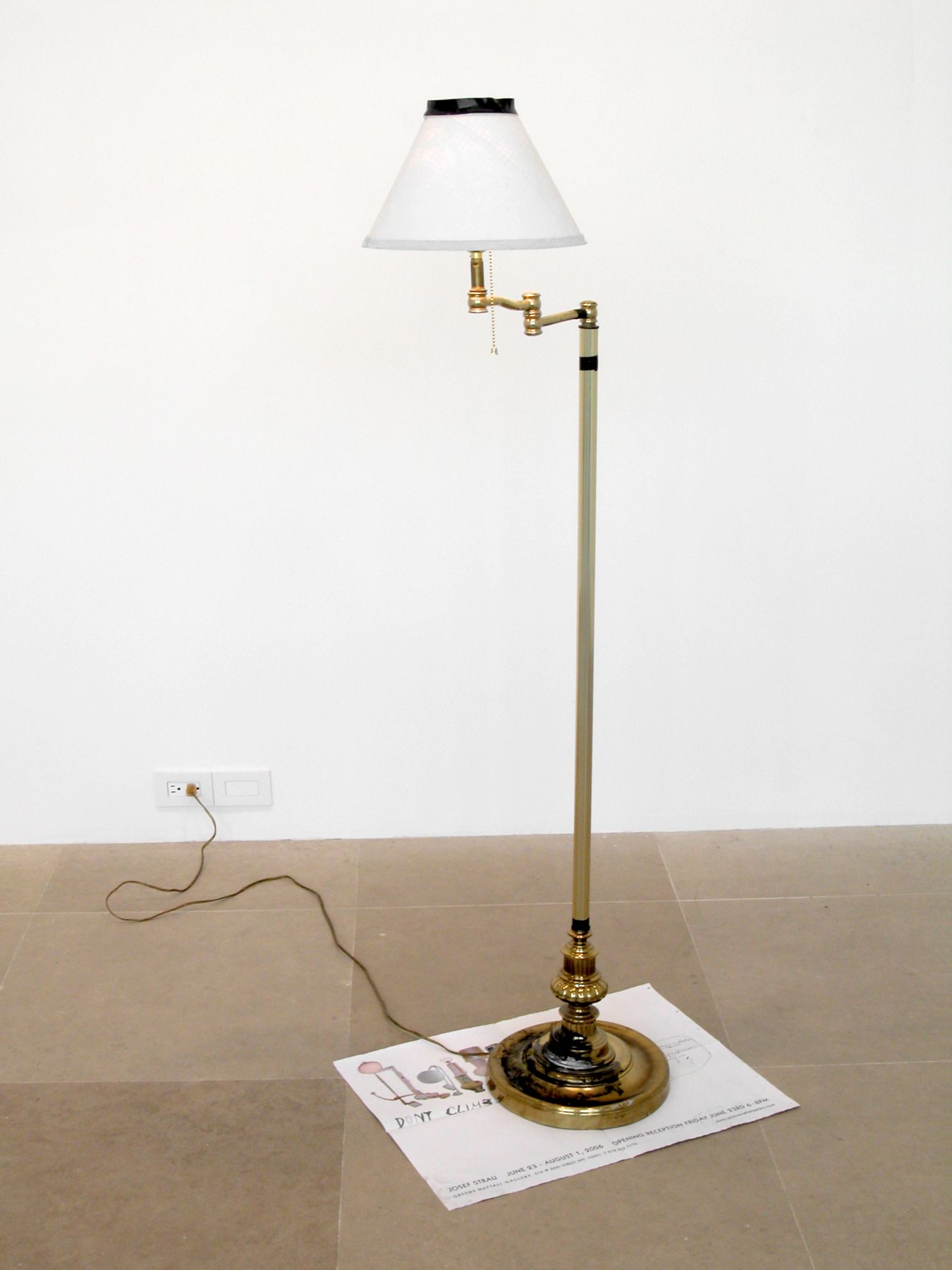 The Betrayal Lamp, 2006, mixed media lamp, 57 x 17 x 23 inches (144.8 x 43.2 x 58.4 cm)